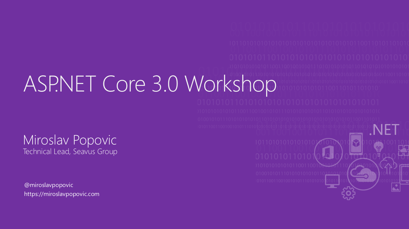 ASP.NET Core 3.0 Workshop